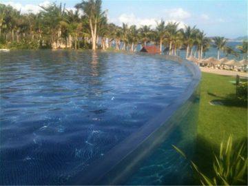 Pannello acrilico personalizzato per piscina per nuotare