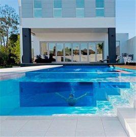 Pannello in plexiglass spesso acrilico trasparente personalizzato per progetto di piscina