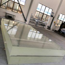 Pannello in acrilico trasparente trasparente con rivestimento in materiale plastico