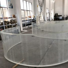 foglio di plastica curvo acrilico dello specchio per gli acquari del carro armato di pesci